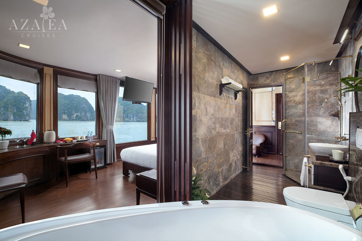Azalea Cruises 2 Days Halong Bay Premium Deluxe Balcony
