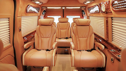 Halong to Hanoi luxury limousine van