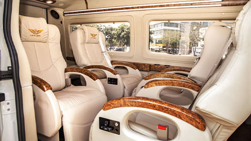 Sapa to Halong luxury limousine van
