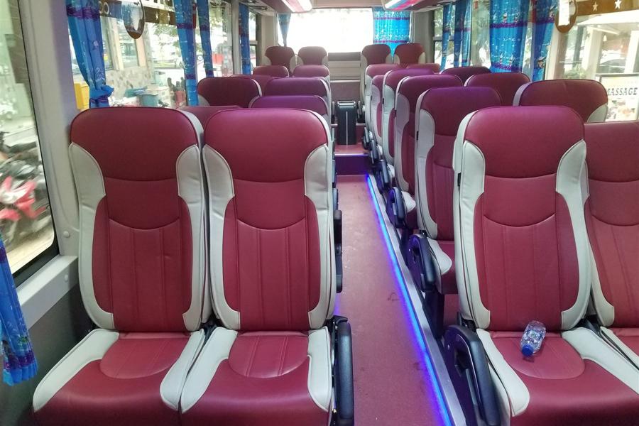 Coach from Hanoi to Halong Bay